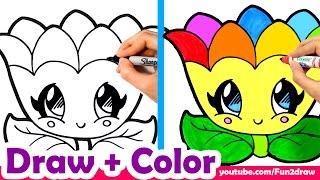getlinkyoutube.com-Learn to Draw a Rainbow Flower for Mom, Mum, Cute + Easy