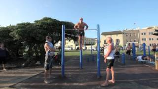 getlinkyoutube.com-***Guinness World Record*** Most consecutive muscle ups: Jarryd Rubinstein