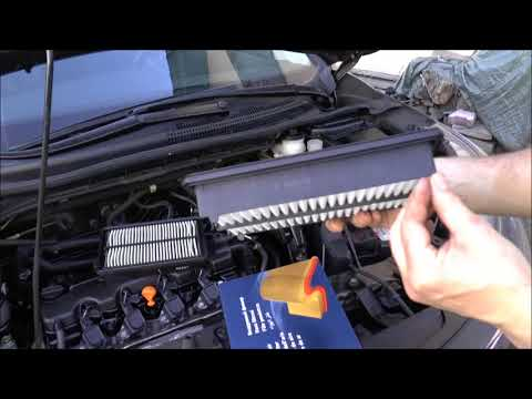 How to change, replace air filter - Honda 2.0, Accord, CR-V, R20A9, replacement