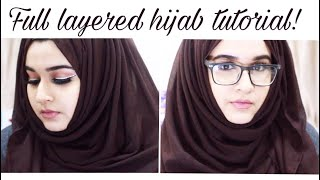 EASY hijab style with glasses !  2018 - by Paints_brushes width=