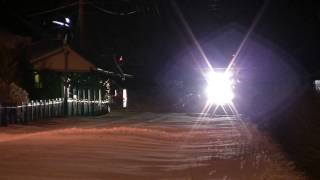 HD: Plow Train Extra clears the rails after Significant Snowstorm