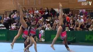 getlinkyoutube.com-Bentov-Lagman, Platania, Hulson - 1st Class Gymnastics Annapolis - Womens Group - Zwingerpokal 2013