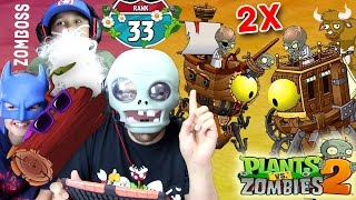 getlinkyoutube.com-Dr. Zomboss Fights Himself? Lets Play PVZ 2 - THE END!?!? 2x Zomboss Quest (Travelers Log) w/ Mike