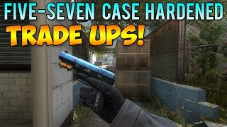 getlinkyoutube.com-CS GO - Five-Seven Case Hardened Blue Top Trade Up Attempts! (CSGO Skins)