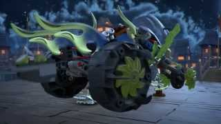 getlinkyoutube.com-Chain Cycle Ambush  - Lego Ninjago - Product Animation 70730