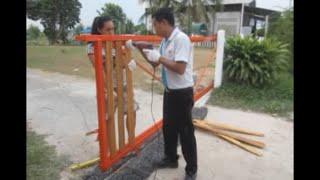 getlinkyoutube.com-ทำประตูรั้วเองแบบง่ายๆ Sliding gate DIY