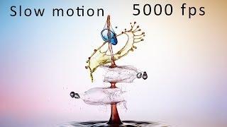 getlinkyoutube.com-Liquid Art - Wassertropfen Slow Motion 5000 fps !