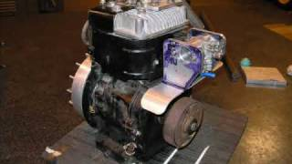 getlinkyoutube.com-Hot Rod Supercharged Briggs and Stratton 5hp