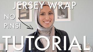 getlinkyoutube.com-NO PINS Jersey Wrap Hijab Tutorial - 2 Ways - Fast & Easy