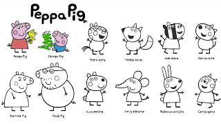 getlinkyoutube.com-Learn Colours With Peppa Pig And Friends Colouring Page