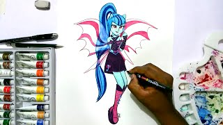 getlinkyoutube.com-How to draw my little pony equestria girls Sonata Dusk