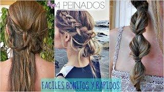 getlinkyoutube.com-4 PEINADOS FACILES Y RAPIDOS PARA IR A CLASE!!  Back To School Hair Styles