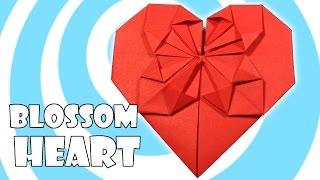 getlinkyoutube.com-Origami Blossom Heart Tutorial