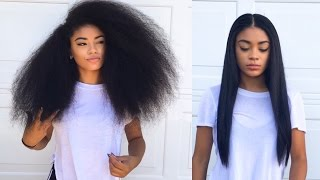 getlinkyoutube.com-Curly to Straight Hair Tutorial (updated) - How to Get Rid of Frizzy Ends | jasmeannnn