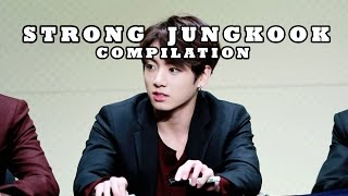 [COMPILATION] How strong is BTS Jungkook?: carrying his hyungs, wrestling, etc.