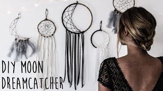 getlinkyoutube.com-DIY: How To Make A Crescent Moon Dreamcatcher