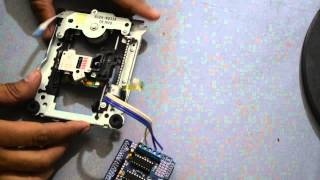getlinkyoutube.com-Drive CD-ROM Stepper Motor with Arduino + L293d shield