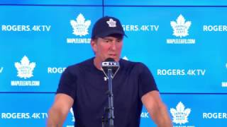 getlinkyoutube.com-Maple Leafs Morning Skate: Mike Babcock - January 17, 2017