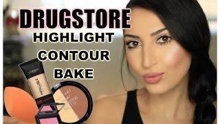 getlinkyoutube.com-DRUGSTORE: Subtle Highlight | Contour | Bake | 2016