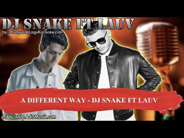 A DIFFERENT WAY - DJ SNAKE FT LAUV Karaoke