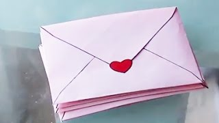 getlinkyoutube.com-✎ DIY, Fabrication d'une jolie enveloppe, tutoriel clair