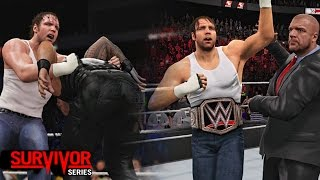 getlinkyoutube.com-WWE SURVIVOR SERIES 2015 - Dean Ambrose Wins WWE Title And Join The Authority!