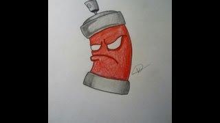 getlinkyoutube.com-How to draw a graffiti spraycan