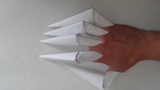 getlinkyoutube.com-Как сделать из бумаги когти (Origami Claws)