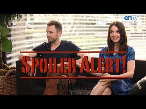 """Community"" Stars Joel McHale & Alison Brie Talk Big Return - SPOILER ALERT!: ENTV"