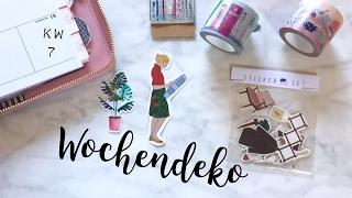 getlinkyoutube.com-Filofaxing Wochendeko KW 7 | plan with me | deutsch | planenaufpapier