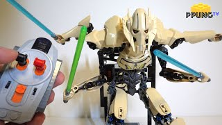getlinkyoutube.com-LEGO Star Wars 75112 - RC motorized General Grievous review by 뿡대디
