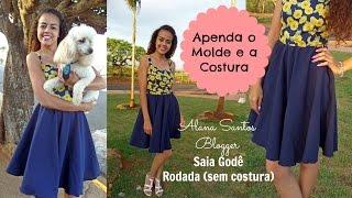 getlinkyoutube.com-Costura e modelagem saia rodada godê Alana Santos Blogger