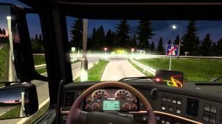 getlinkyoutube.com-[Euro truck Simulator 2] test Logitech G29 , Journey with Volvo FH16 explore Scandinavia 750 part 1
