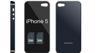 getlinkyoutube.com-iPhone 5 - Dual SIM - Bluetooth Triple Dual SIM Adapter for iPhone 5 - TripleBlue case 5 - SIMore