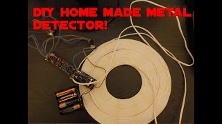 getlinkyoutube.com-Metal detecting, DIY home made pulse induction metal detector Surf 1.2 pi
