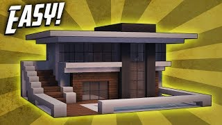 getlinkyoutube.com-Minecraft: How To Build A Small Modern House Tutorial (#9)