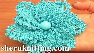 getlinkyoutube.com-12-Petal Crocheted Spiral Flower Tutorial 69 Flower to Crochet