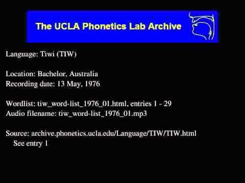 Tiwi audio: tiw_word-list_1976_01