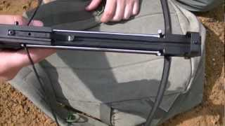 getlinkyoutube.com-Crossbow pistol 50 lb shooting and Stringing bow string