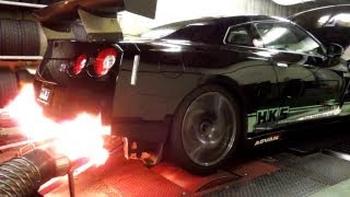 getlinkyoutube.com-HKS R35 GT-R Racing Muffler DYNO TEST with GT1000 TURBINE KIT