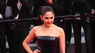 getlinkyoutube.com-Chompoo Araya in Red Carpet Cannes Film 2014 Day 1