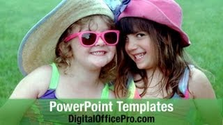getlinkyoutube.com-Girl Friends PowerPoint Template Backgrounds - DigitalOfficePro #03174W