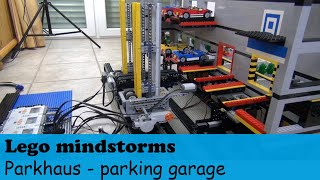 getlinkyoutube.com-Automatisches Lego® mindstorms Parkhaus - automated Lego technic Lego mindstorms parking garage