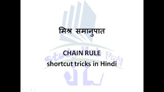 Chain Rule Shortcut Tricks in Hindi  Quantitative Aptitude in Hindi   mathematics