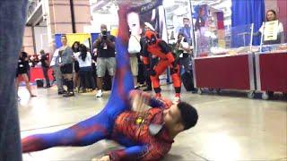 getlinkyoutube.com-Stunning Spider-Man vs Deadpool (Breakdancing Battle)