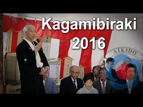 Kagamibiraki 2016 at the Aikikai Hombu Dojo