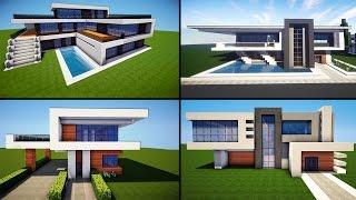 getlinkyoutube.com-Minecraft: 30 Awesome Modern House ideas + Tutorial + Download 2016