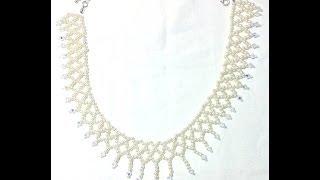 getlinkyoutube.com-Tutorial | DIY: Collier da Sposa con Tecnica Netted