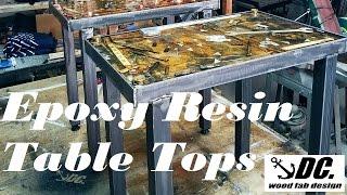 DC. EPOXY RESIN TABLE TOPS