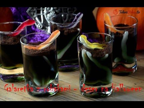 Galaretka z robakami - deser na Halloween